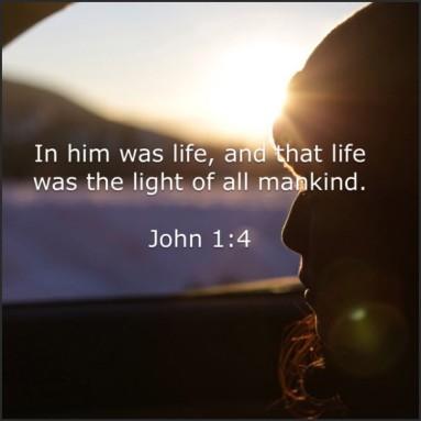 John 1 4 light