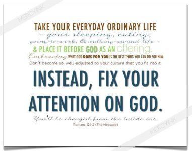 Romans 12 fix your mind