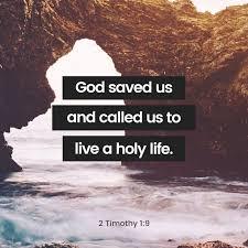 1 2 Tim God saved us