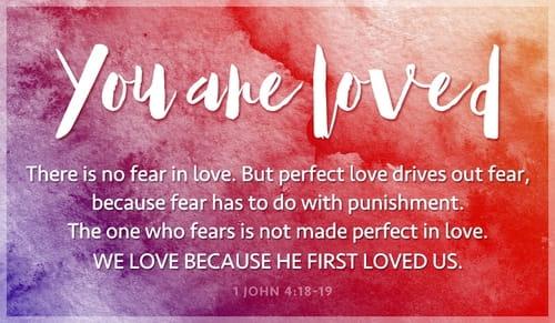 1 John 4 loved