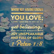 1 Peter 1 full of glory