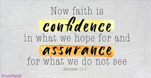 Hebrews 11 confidence