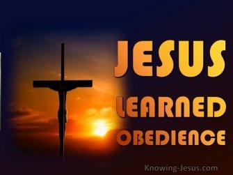 Hebrews 5 Jesus on the cross of obedience