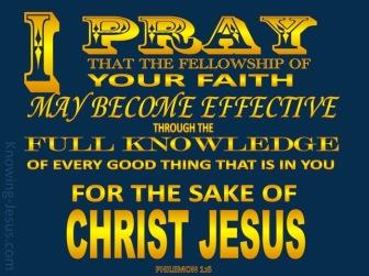 Philemon I pray