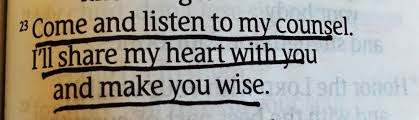 Proverbs 1 God will
