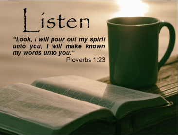 Proverbs 1 listen to me