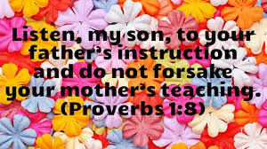 Proverbs 1 moms and dads