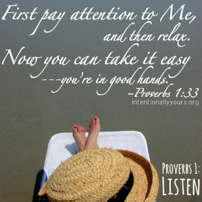 Proverbs 1 pay attention