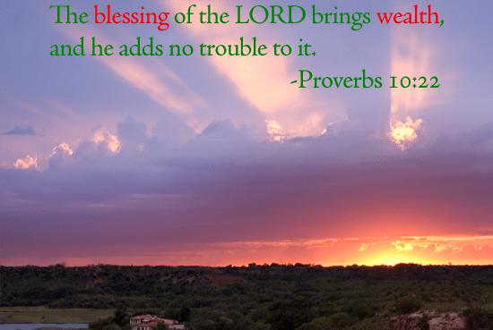 Proverbs 10 22