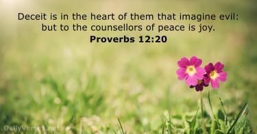 Proverbs 12 20