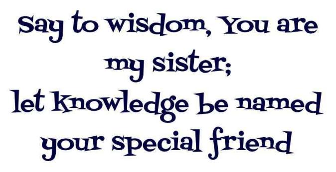 Proverbs 7 sister