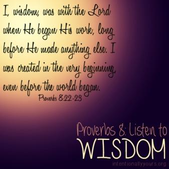 Proverbs 8 listen