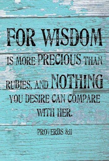 Proverbs 8 wisdom