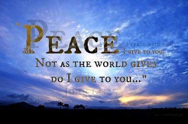 Psalm 122 peace of Christ