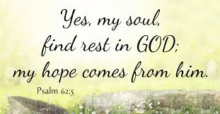 Psalm 62 rest