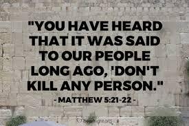 Matthew 5 anger