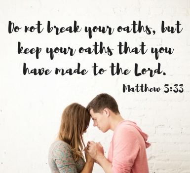 Matthew 5 dont break