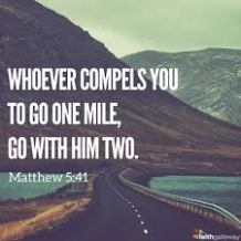 Matthew 5 go the extra mile
