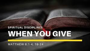 Matthew 6 give