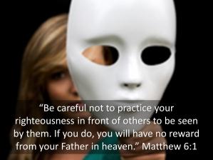 Matthew 6 no fakes