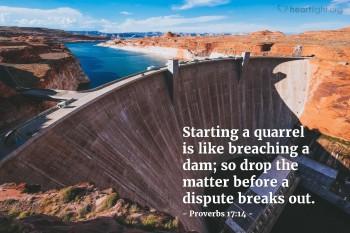 Proverbs 17 quarrels