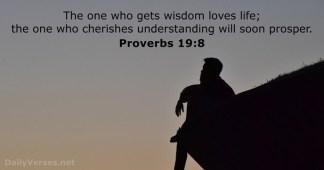 Proverbs 19 8