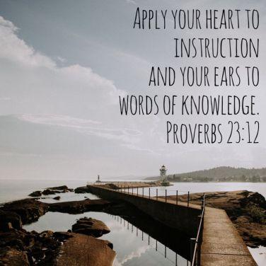 Proverbs 23 12