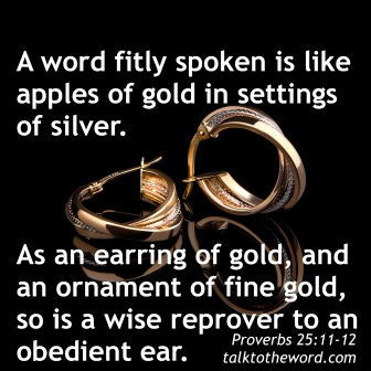 Proverbs 25 words like jewelry