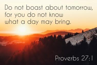 Proverbs 27 1