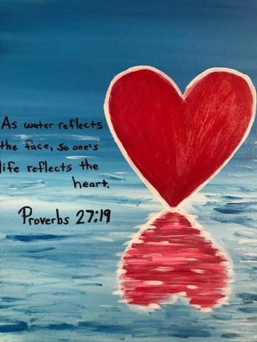 Proverbs 27 19 cover heart