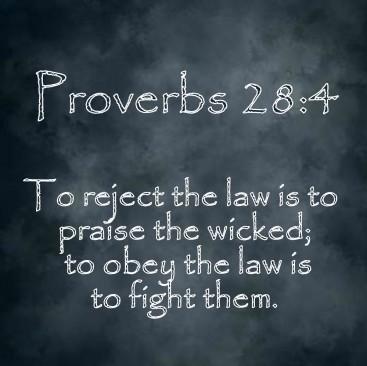 Proverbs 28 4