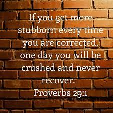 Proverbs 29 1