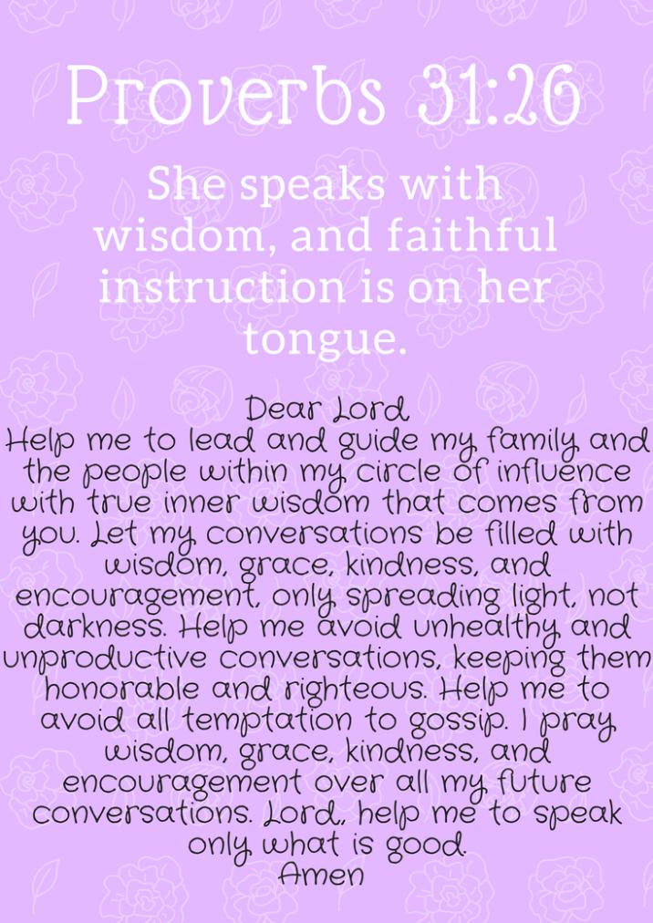 Proverbs 31 prayer