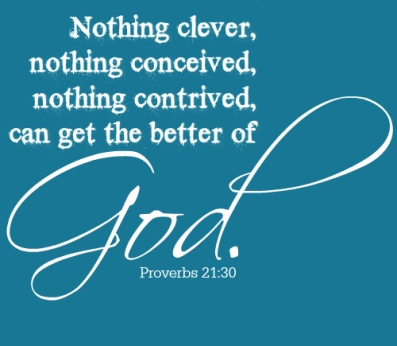 Proverebs 21 30