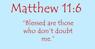 Matthew 11 11 doubt