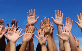 Matthew 6 raising your hands