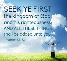 Matthew 6 seek first