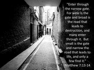 Matthew 7 13-14