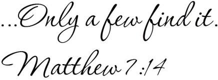 Matthew 7 only a few