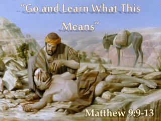 Matthew 9 helping