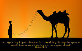 Matthew 19 camel through needle gate