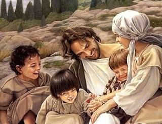 Matthew 19 Jesus laughs with kids