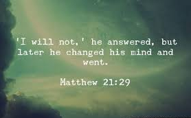 Matthew 21 changed his mind