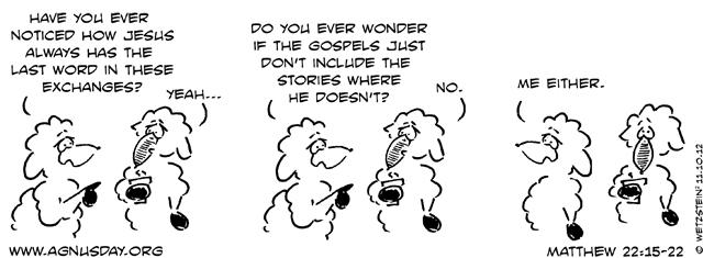 Matthew 22 cartoon